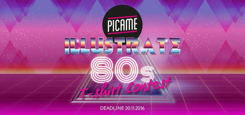 Primo contest su Teeser dedicato anni 80 Picame illustratori designer grafici T-shirt
