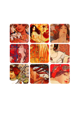 maglietta MUCHA GRID RED