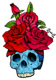 maglietta Skull and roses