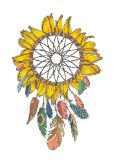 maglietta Sunflower Dream Catcher