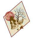 maglietta skull with red moon