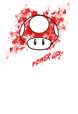 maglietta mushroom super mario power up