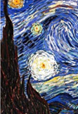 maglietta starry night
