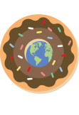 maglietta earth in a donut