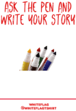 maglietta ask the pen and write your story