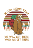 maglietta SLOTH HIKING TEAM