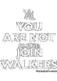 maglietta you are not alone join walkers