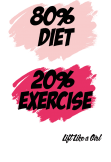 maglietta 80% diet, 20% exercise