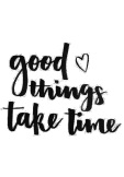 maglietta Good things take time