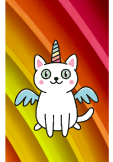 maglietta cover cat unicorn