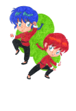 maglietta RANMA 1/2 BOY AND GIRL