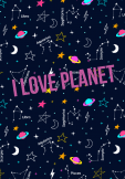 maglietta i love planet