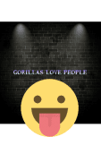 maglietta gorillas love people t-shirt