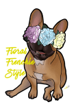 maglietta Floral Frenchie Style