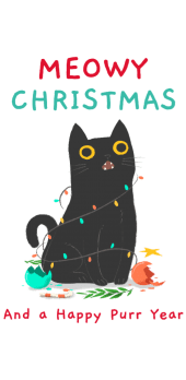 cover meowy Christmas