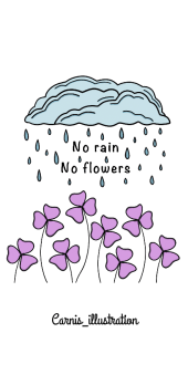 cover No rain no flowers