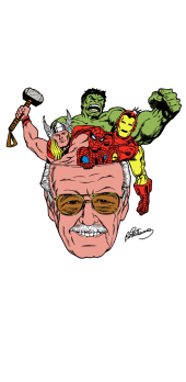 cover T-shirt Stan Lee