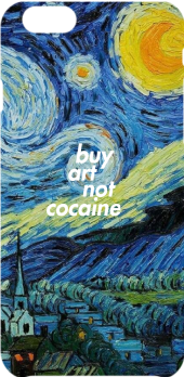 cover buy art, not cocaine #1 (starry night)