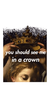 cover T-shirt 'You should see me in a crown'