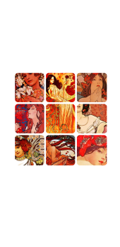 cover MUCHA GRID RED