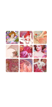 cover Mucha Grid Pink