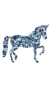 cover Unicorn glitter