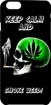 cover keep calm and smoke weed!