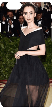 cover md lily collins - met gala