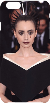 cover lily collins - met gala