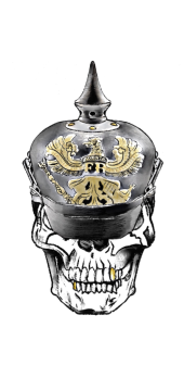 cover skull pickelhaube Gold
