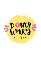 cover Donut worry! Be happy ??