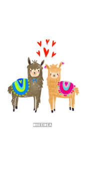 cover Llamas in love