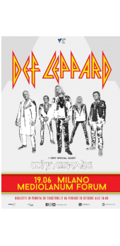 cover Def Leppard tour italiano