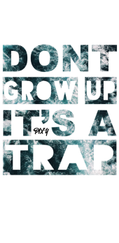"cover T-Shirt,Cover PIXY ""Don't Grow up it's a trap"""