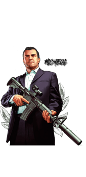 cover Grand Theft Auto V T-Shirt Micheal