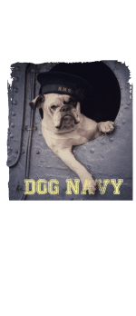 cover DOG NAVY T-SHIRT FELPA COVER GIRL