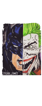 cover batman Vs joker
