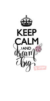 cover Keep calm and dream big