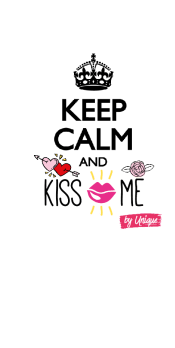 cover Keep calm and kiss me