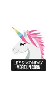 cover less monday more unicorn!