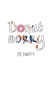 cover Donut worry ! Be happy