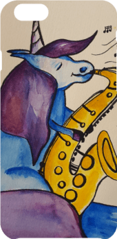 cover Unicorn playing a saxophone