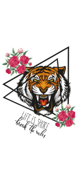 cover tiger and roses