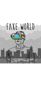 cover FAKE WORLD