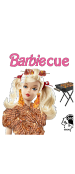 cover Barbie barbecue la bambola carnivora
