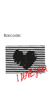 cover love barcode