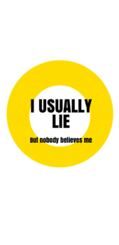 cover I USUALLY LIE • Fake Logo