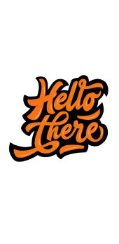 cover Hello there - orange
