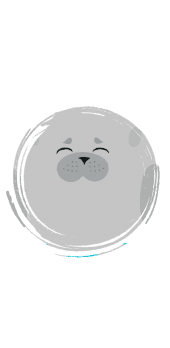 cover Seal cute round animal