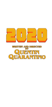 cover 2020 written and directed by Quentin Tarantino